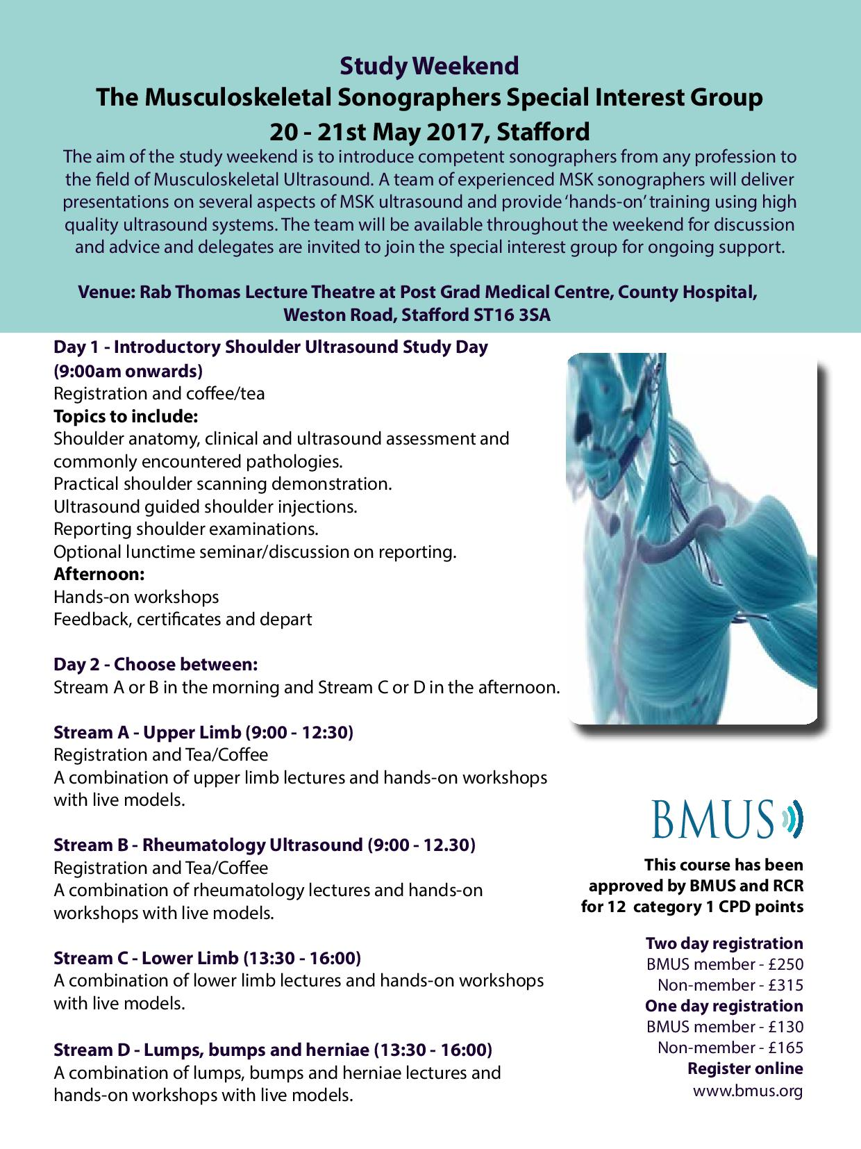 MSK Study Weekend | Events | BMUS